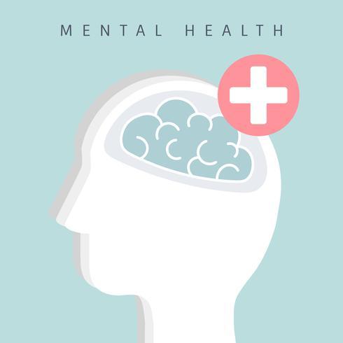 Vecteur d'icône de sensibilisation à la santé mentale