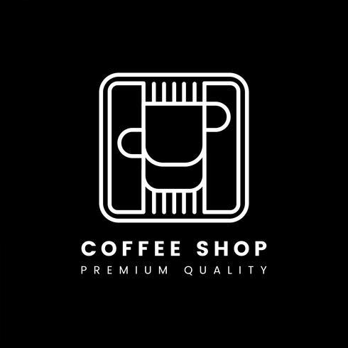 Erstklassiger Qualitätskaffeestube-Logovektor