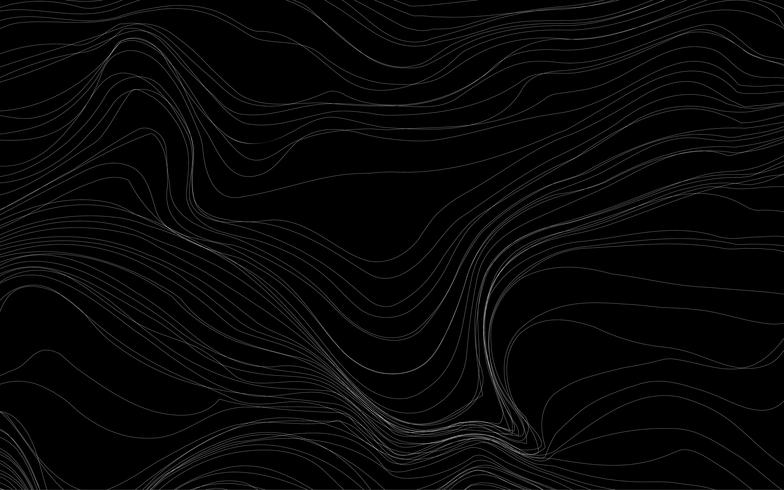 Olas texturas vector de fondo negro