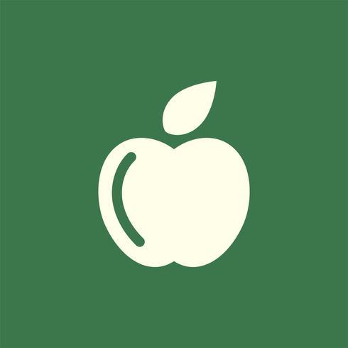 Grönfärgad äpplelogo vektor