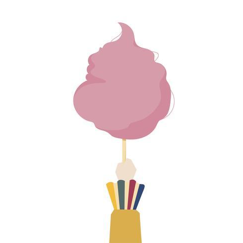 Illustratie van een suikerspin van de handholding