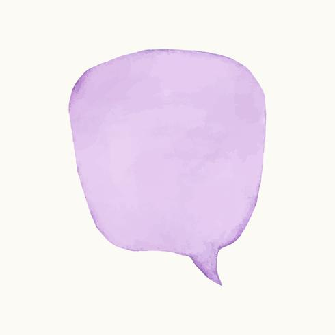 Illustration of an empty colorful speech bubble