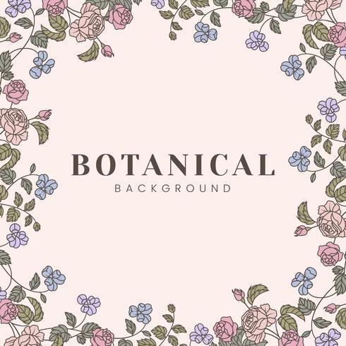 Botanische Blumenmodellabbildung