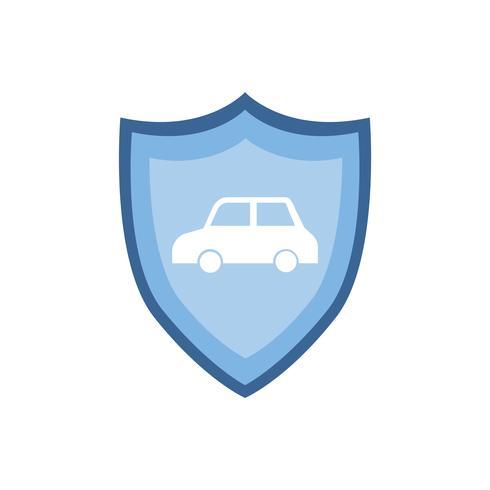 Muestra del coche en el ejemplo azul del gráfico del escudo