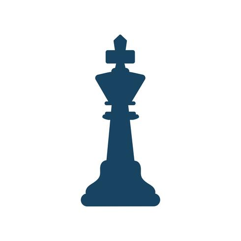 Black king chess figure isolated graphic illustration