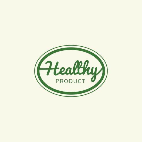 Sello de producto saludable emblema insignia ilustración