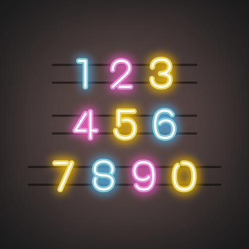 Numero 0-9 vettore del sistema numerico