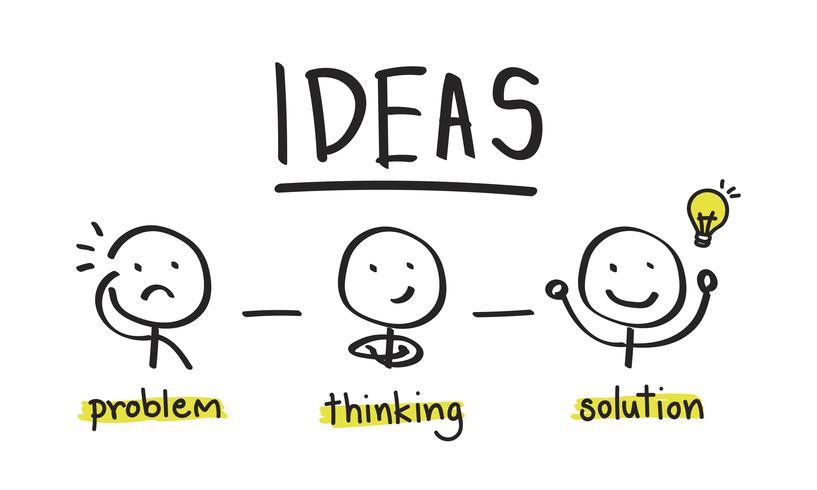 Ilustración de ideas bombilla