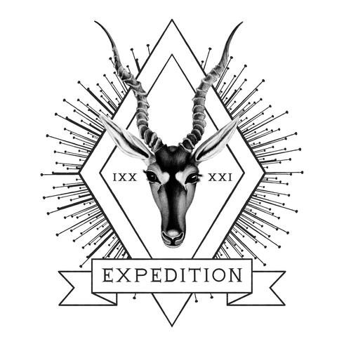 Expeditionsreiselogo-Designvektor
