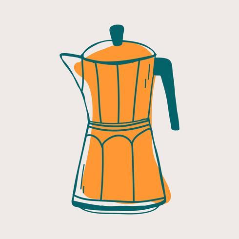 Vector de icono de cafetería moka olla