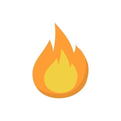 Enige vlam geïsoleerde grafische illustratie