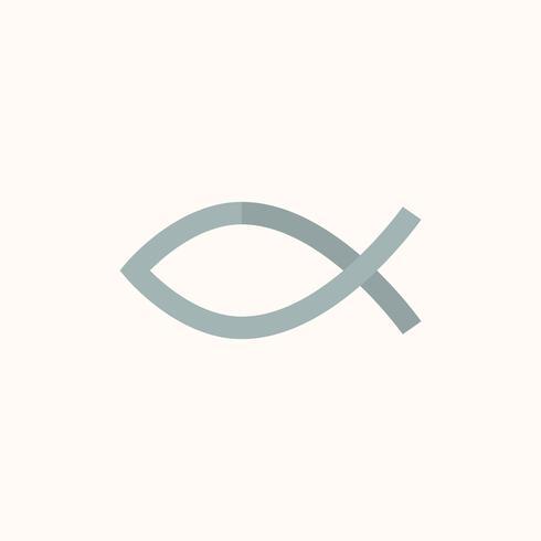 Illustrazione del simbolo del pesce cristiano