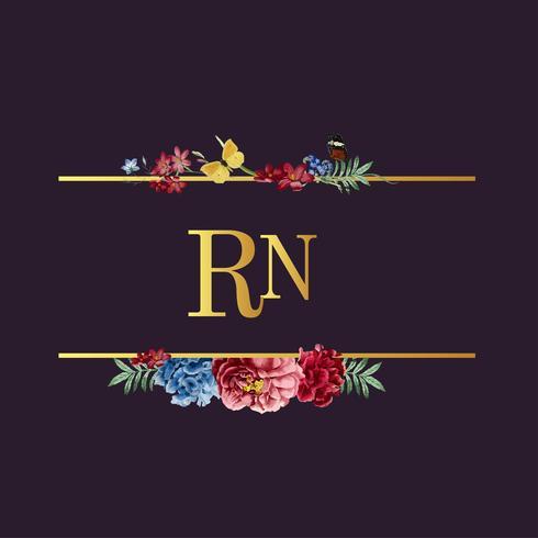 Blumenkarteillustration der Hochzeitseinladung