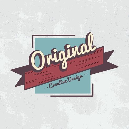 Originele creatief ontwerp badge vector