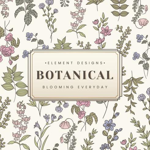 Botanischer Text Banner