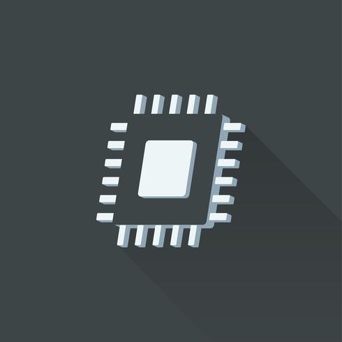 Illustrazione di un microchip