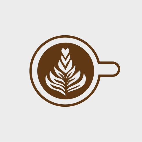 Tasse, de, cappuccino, à, vecteur arbre