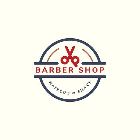 Illustration de conception de logo de magasin de coiffeur