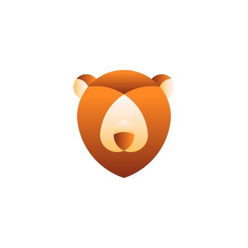 Linear illustration of a bear's head