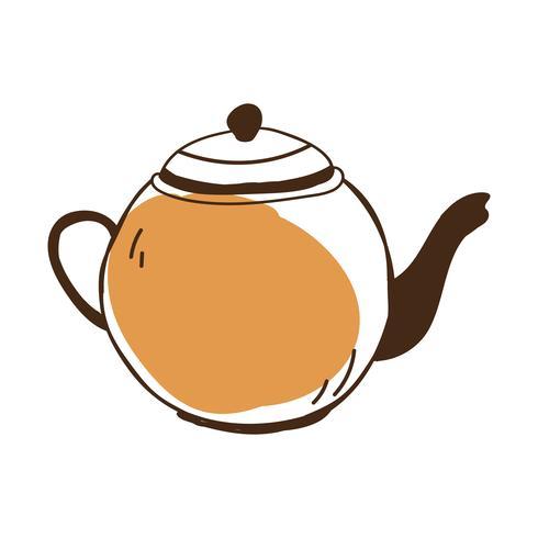 Vetor de ícone de chá pote café