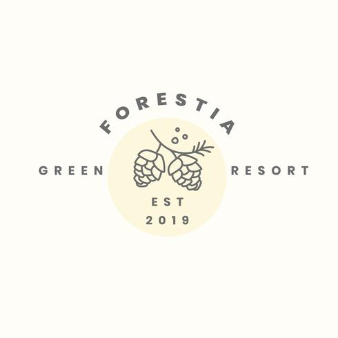 Groene resort logo ontwerp vector