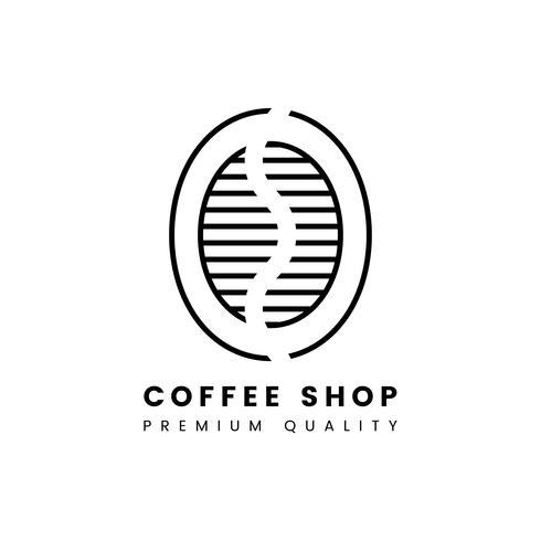 Premium kwaliteit koffie winkel logo vector