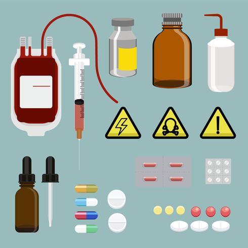 Illustration of a medical equipment set
