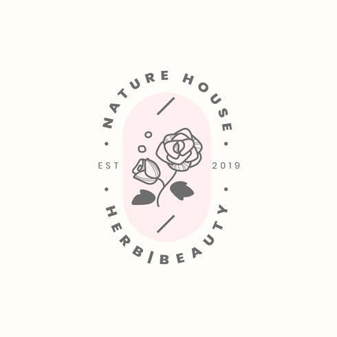 Nature house logo design vector