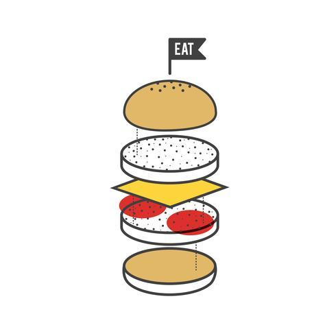Abbildung von Hamburger