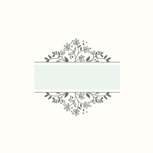 Vettore botanico in bianco dell'elemento di progettazione della struttura