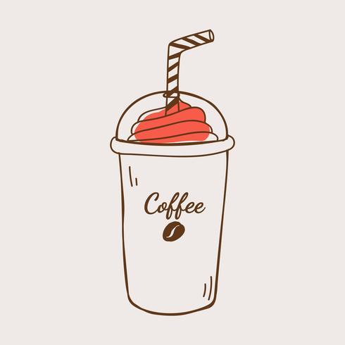 Mocha frappe koffie winkel pictogram vector