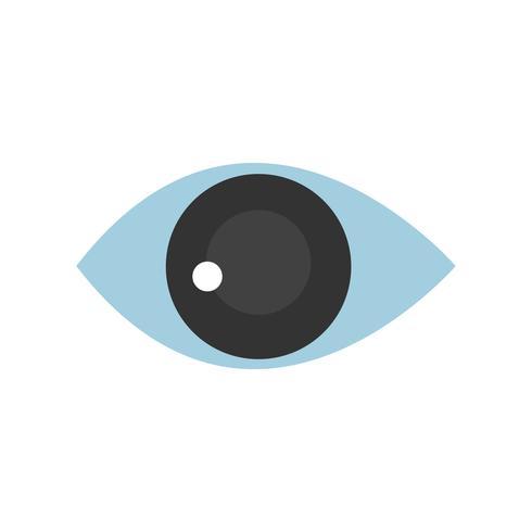Illustration graphique isolé de l'oeil humain