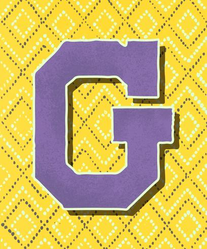 Huvudbokstav G vintage typografi stil