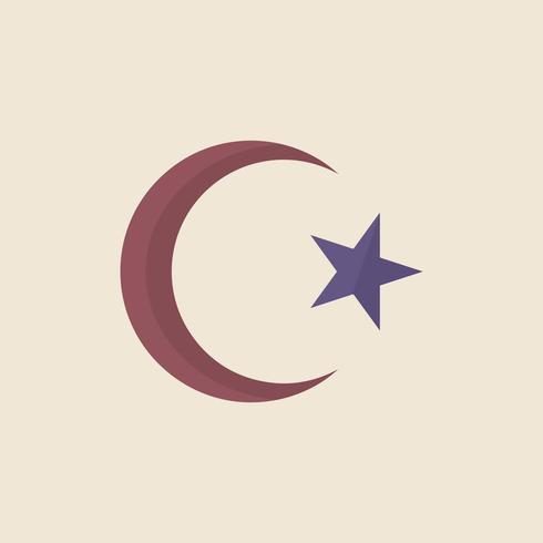 Illustration av stjärnan och halvmåne symbolen