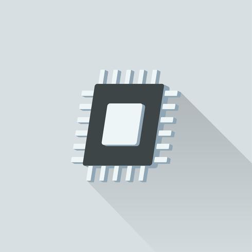 Ilustración de un microchip