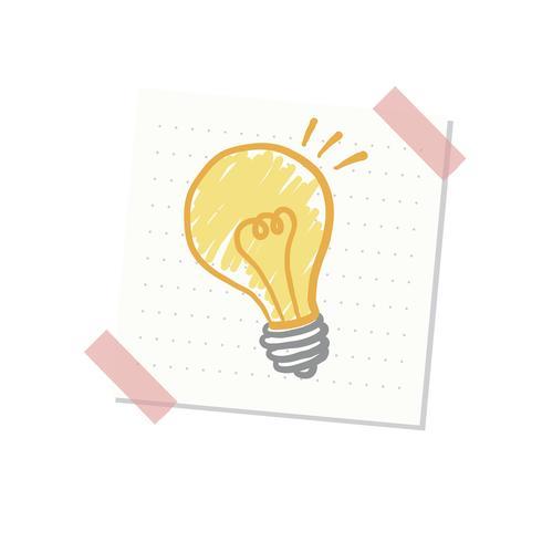 Ideas and light bulb illustration