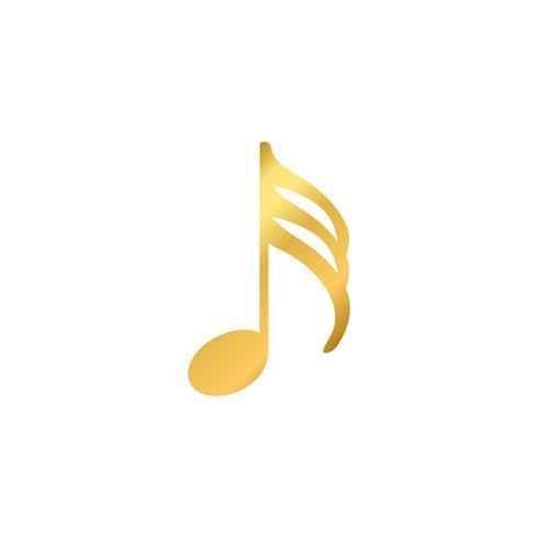 Ilustração, de, um, nota musical