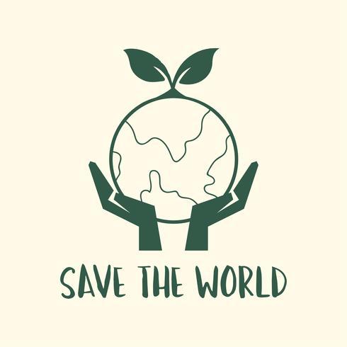 Salva l'illustrazione della campagna mondiale