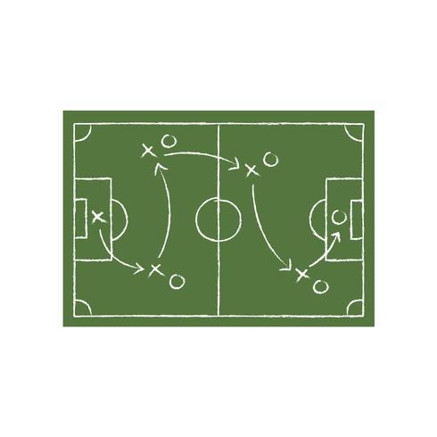 Tactique de football sur l'illustration graphique de la carte verte