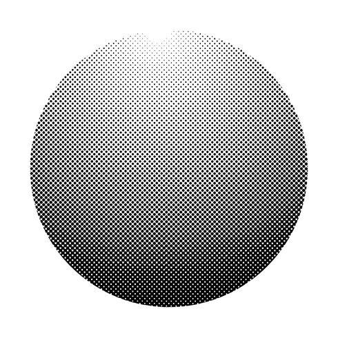 Zwart halftone kenteken op witte vector als achtergrond