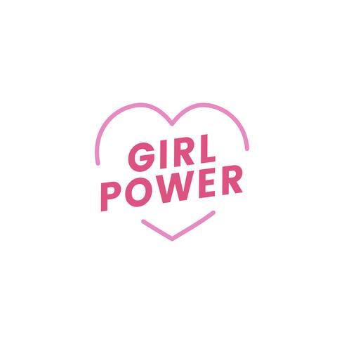 Mädchenenergieemblem-Ausweisillustration