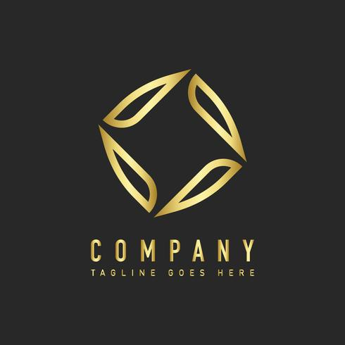 Vetor de design de logotipo de empresa moderna