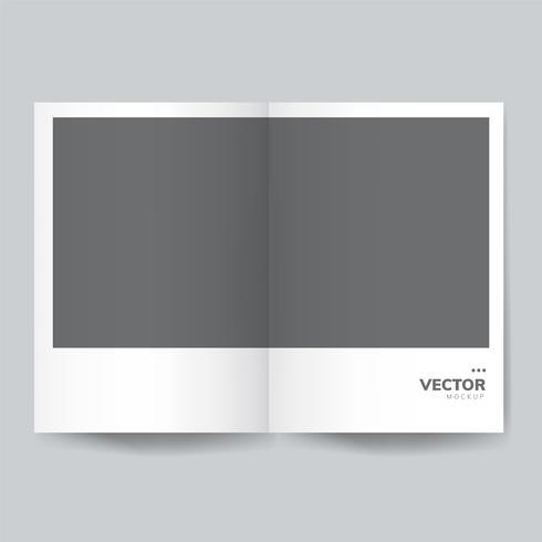 Broschyr design mall mockup vektor