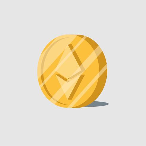 Vettore elettronico di simbolo dei contanti di criptovaluta di Ethereum