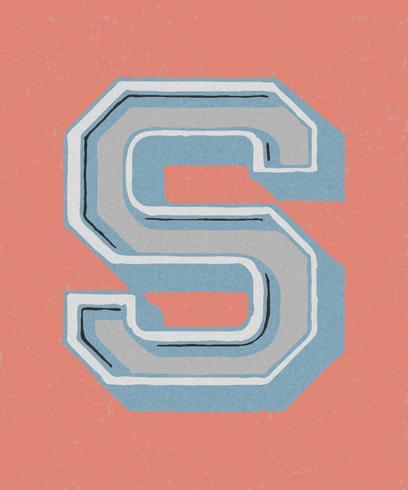Vintage-Typografie-Stil des Großbuchstaben S