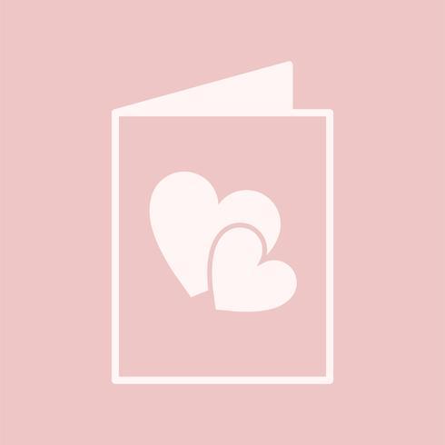 Romantische Grußkarte grafische Darstellung