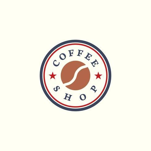 Retro Kaffeestube-Logovektor