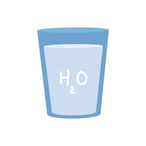 Rent vatten med H2O grafisk illustration