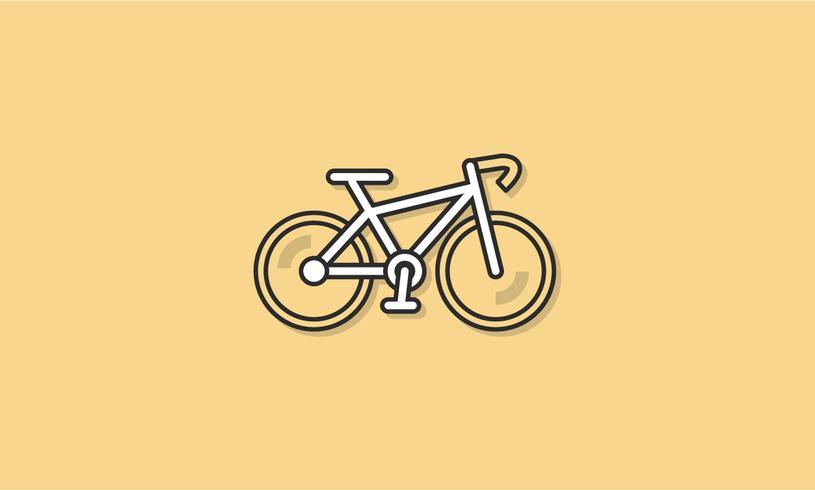 Concept de vecteur d'icône vélo exercice