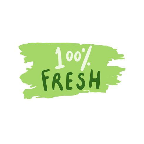 Ny typografi vektor i grön